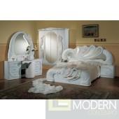 Modrest Vanity White - Italian Classic Bedroom Set