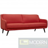 Mid Century Verve Sofa RED