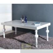 Modrest Nayri - Transitional White Rectangular High Gloss Dining Table