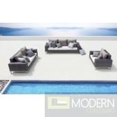 Renava Rock Modern Patio Sofa Set