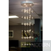 Modrest VIG003 Modern Glass and Stainless Steel Ceiling Light