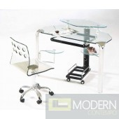 Pictured with Victor Acrylic Computer Chair