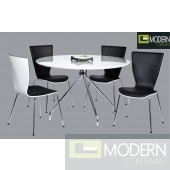 5Pc Charlize Glass Dining Table Set