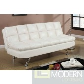 Modern White Faux Leather Adjustable Futon Sofa Free 24 to 72 hours inside delivery DC,MD,VA