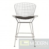 Wire Counter Height Chair, Black