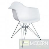 WireLeg Dining Arm Chair, White