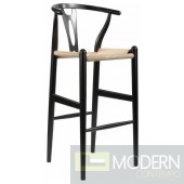 Woodstring Counter Chair, Black