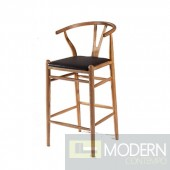 Woodstring Bar Stool Chair, Walnut