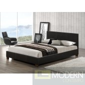 Modern ESPRESSO Leatherette Upholstered Bed Only MCGSB2985ESSPRESSO Free Inside Delivery for DMV metro area.