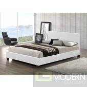 Modern WHITE Leatherette Upholstered Bed Only MCGSB2985WHITE Free Inside Delivery for DMV metro area.