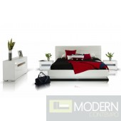 Modrest Infinity - Contemporary Platform Bed with Lights