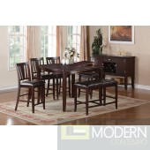 5pc Traditional Counter Height  Espresso Wood Pub dining table Set. MCGSD2329-6 Free 24 to 3 days Free inside Delivery  in DMV metro area.