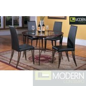 5Pc Charlie Glass Dining Table Set