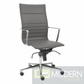 KYLER HIGH BACK OFFICE CHAIR GREY