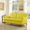 Mid Century Modern Beguile Loveseat in Yellow