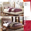 CONTEMPORARY Upholstered Bed by in Crocodile or Pearl Leatherette