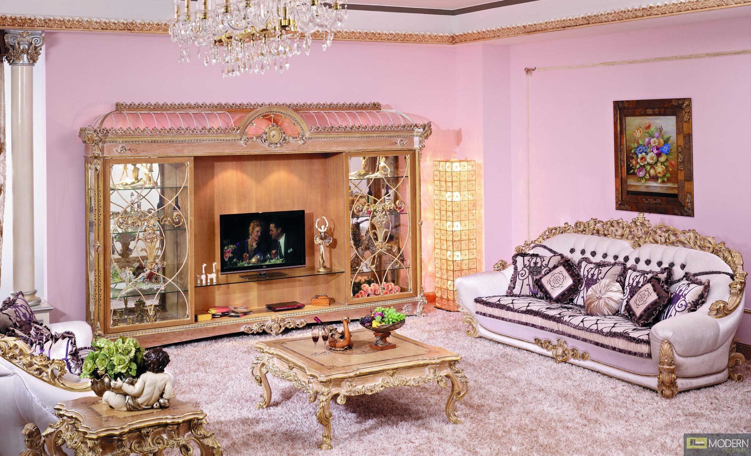 3pc italian european antique hand carving luxury living room sofa