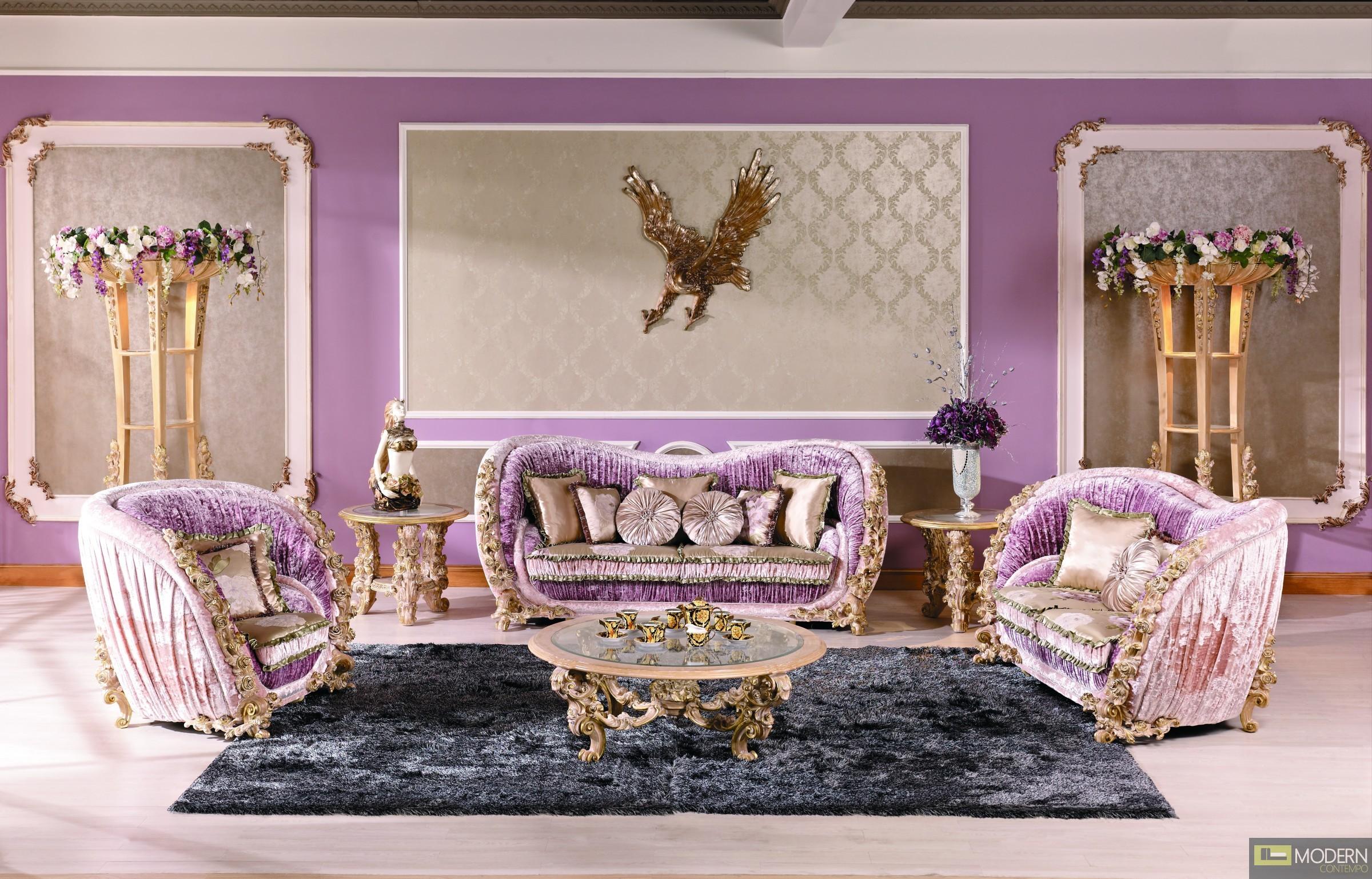 3pc Luxury Living Room Sofa Set Mc1905