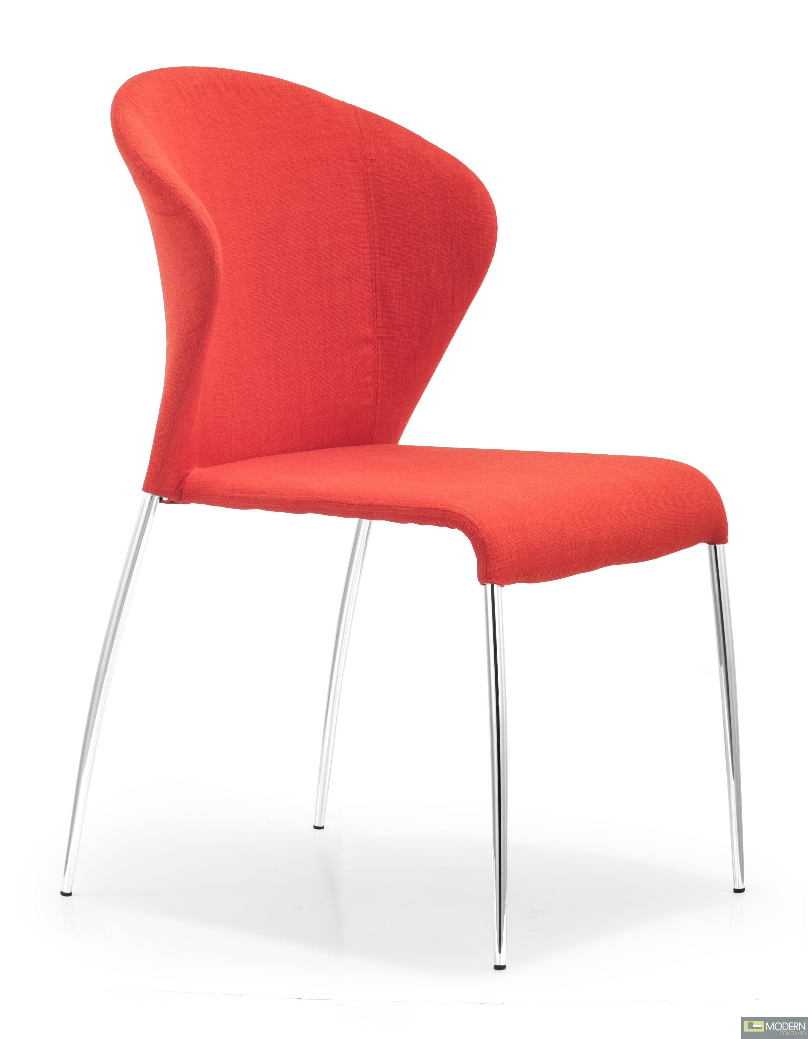 Oulu Chair Tangerine Fabric - Set of 4