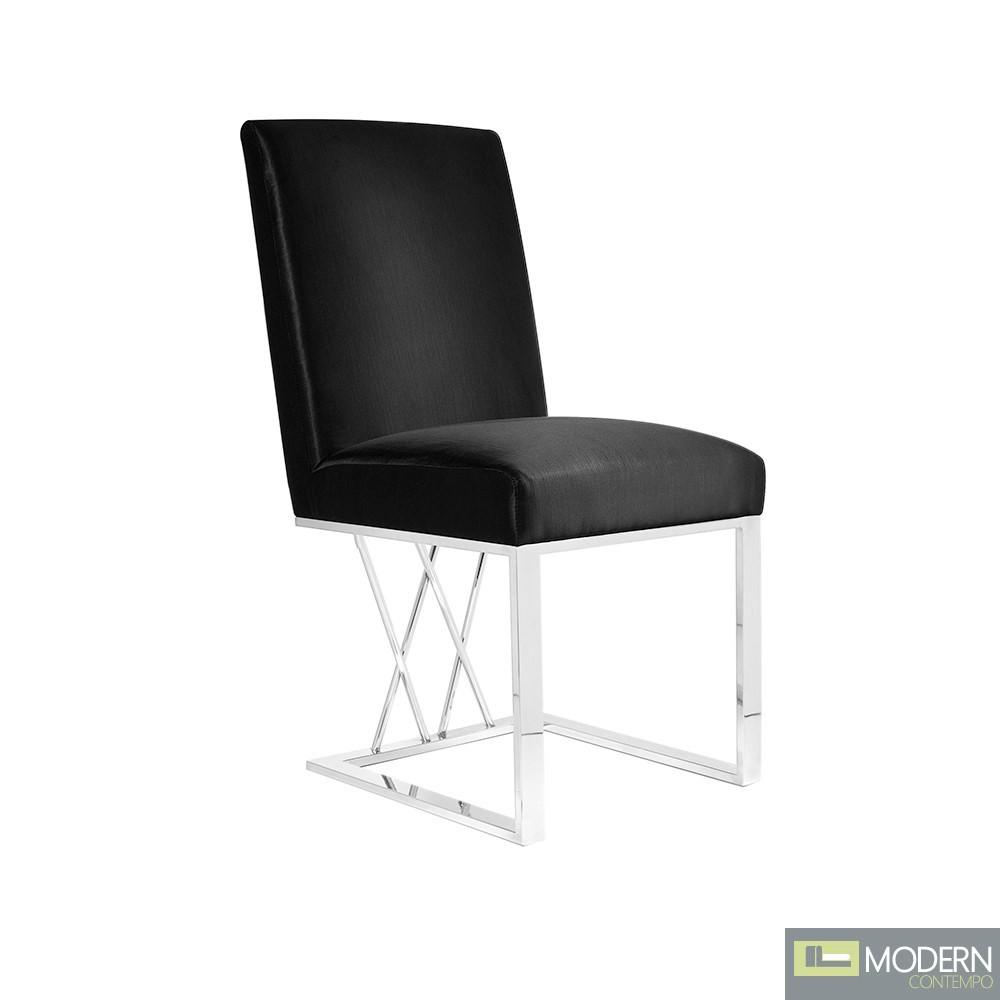 Ikoyi Dining Chair Black Satin