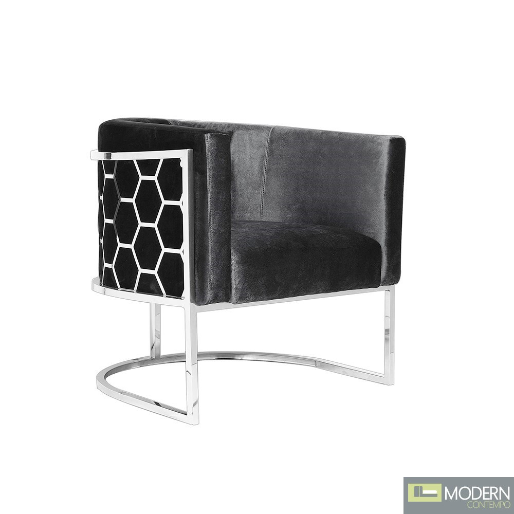Carmen Chair Charcoal Velvet