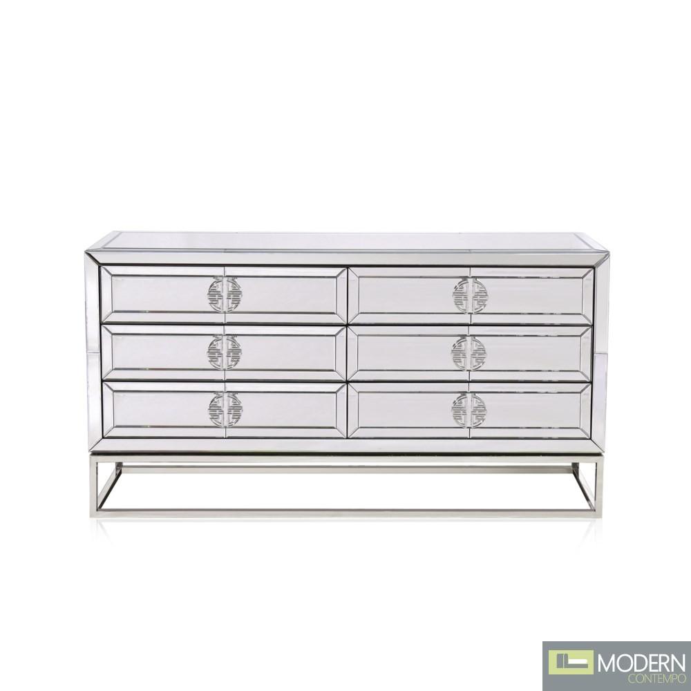 Giuseppe MIrror dresser w/ 6 drawers