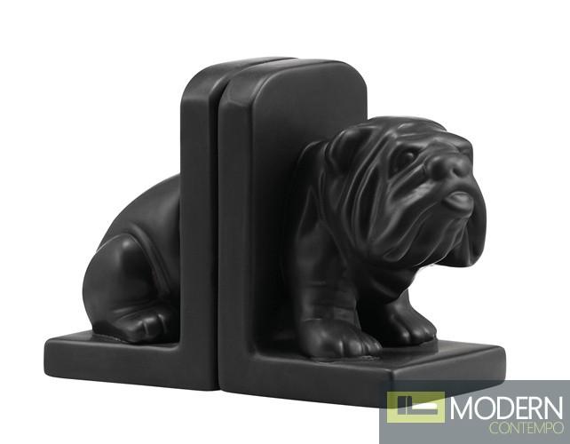 Bulldog Bookend Black