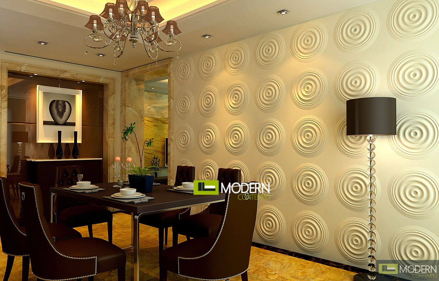 RIPPLES- Exterior and Interior Glue on Wall 3d Surface Panel. 12 ...