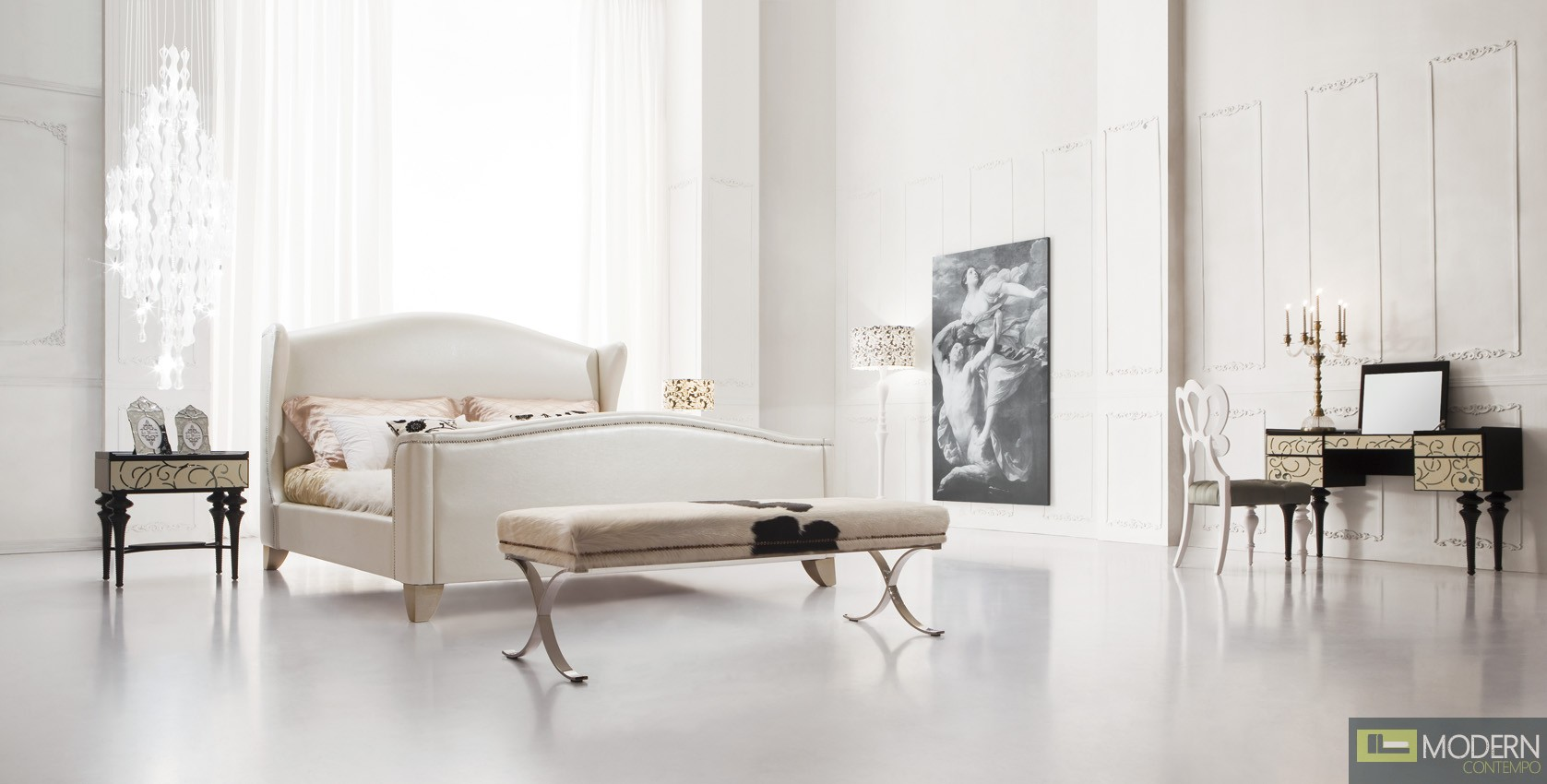 Baroque Luxury  Platform bed-Flaibano