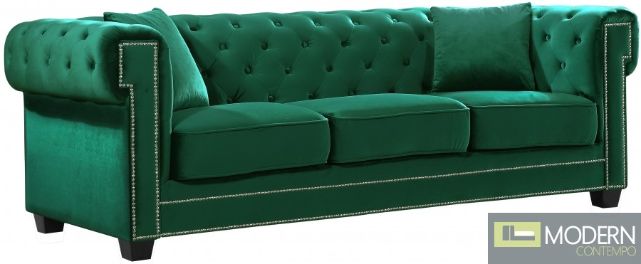 laila Velvet Sofa GREEN