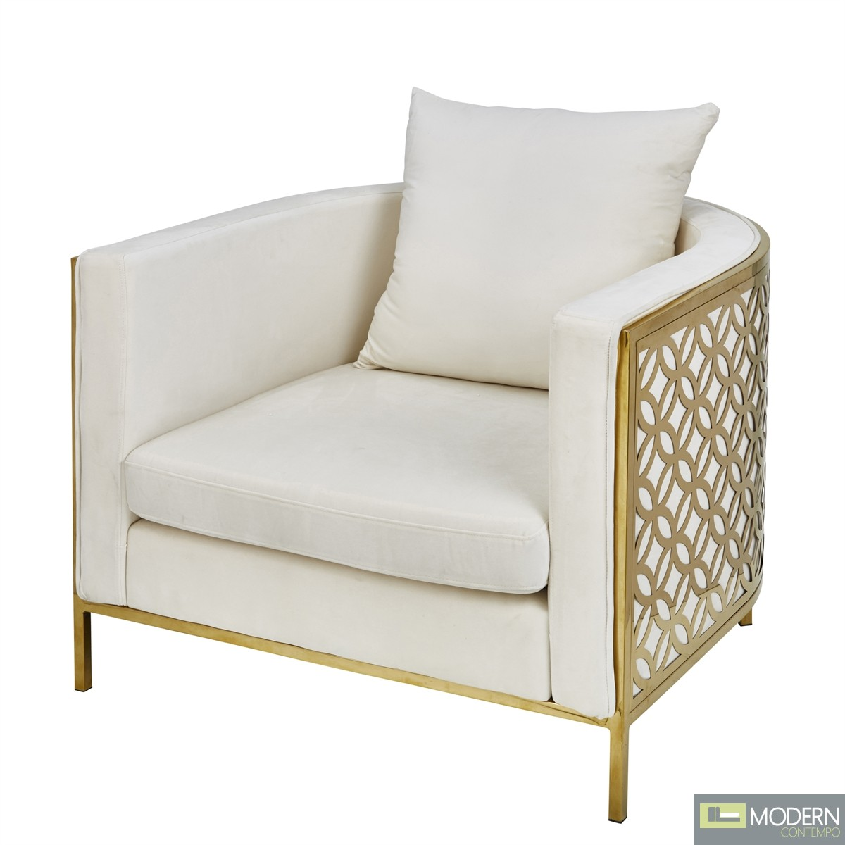 Bellezza OCCASIONAL ARM CHAIR, GOLD