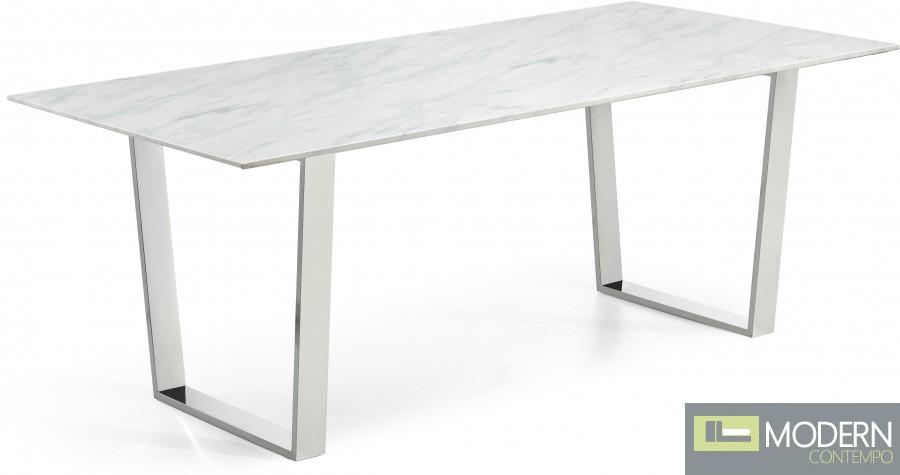 Alpha Chrome Dining Table