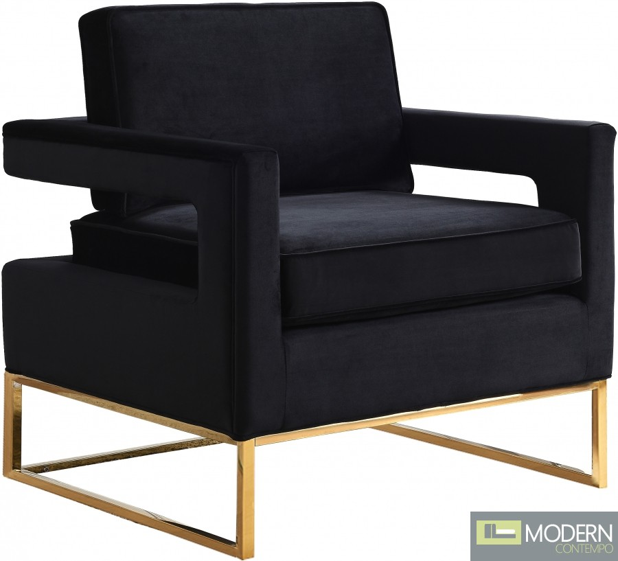 Athena Velvet Accent chair gold base