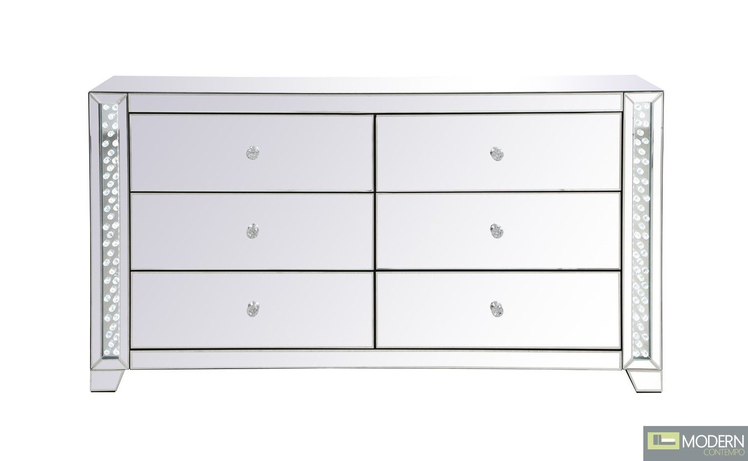 Talia 60 inch LED mirrored 6 drawers chest