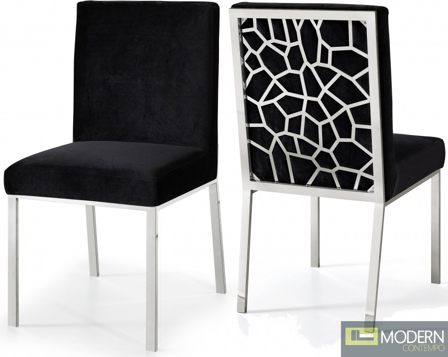 Aurora Velvet Dining chair Chrome