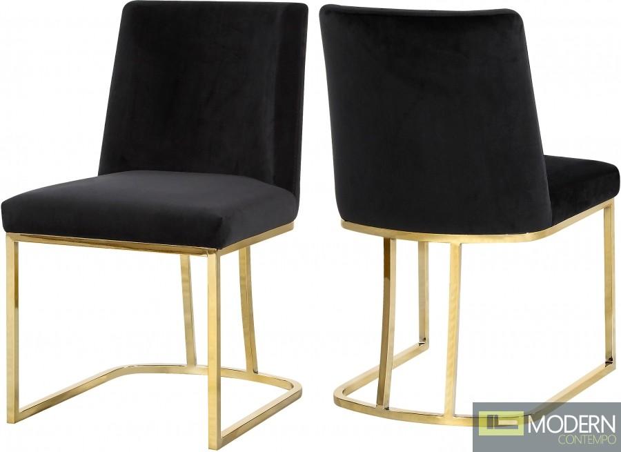 Helena black Velvet dining chair - SET OF 2