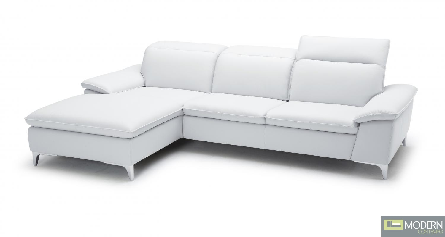 1911B Sectional Left Facing Chaise in White