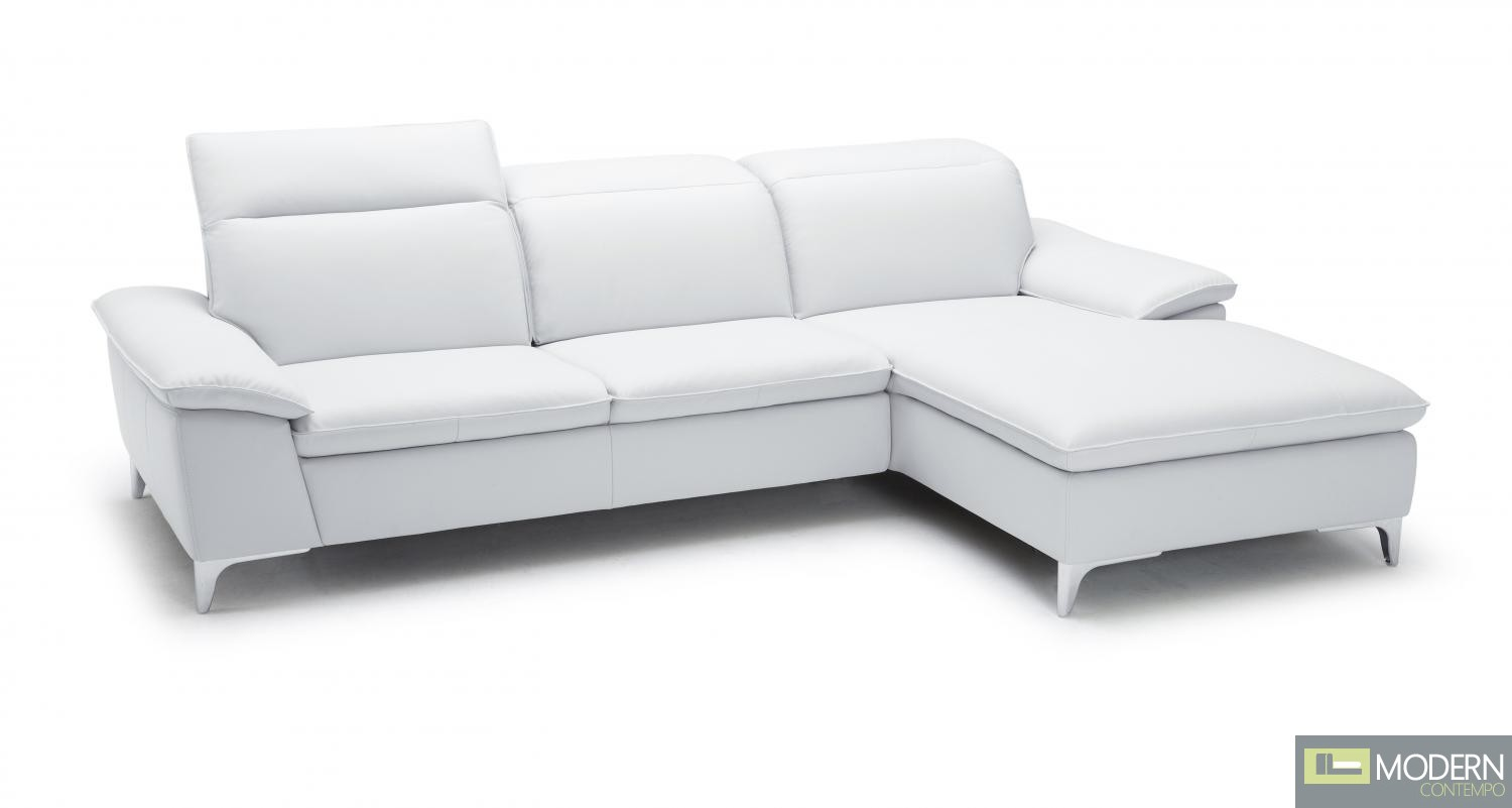1911B Sectional Right Facing Chaise in White
