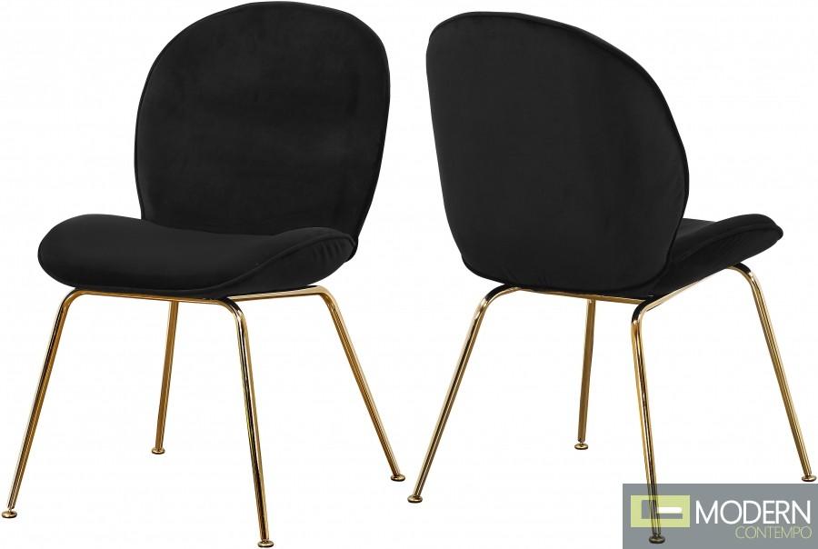 Petal Velvet Dining Chair GOLD