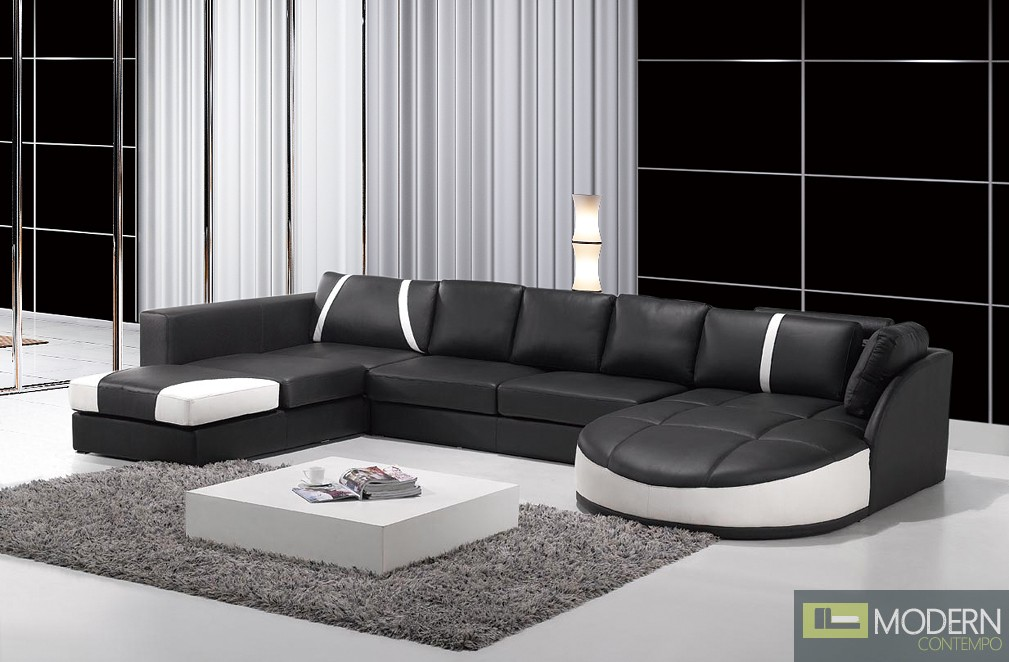 Modern Leather Sectional Sofa  MCNV201