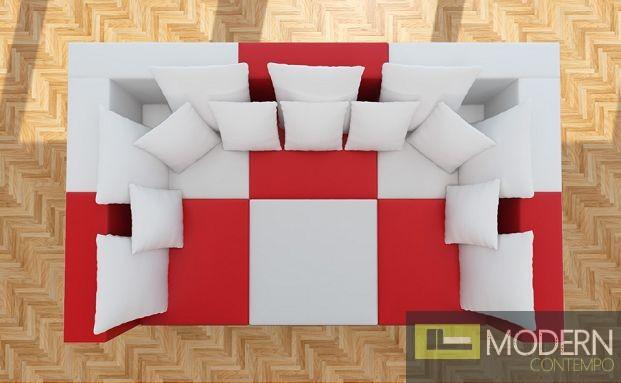 Modern Leather Sectional Sofa  MCNV206