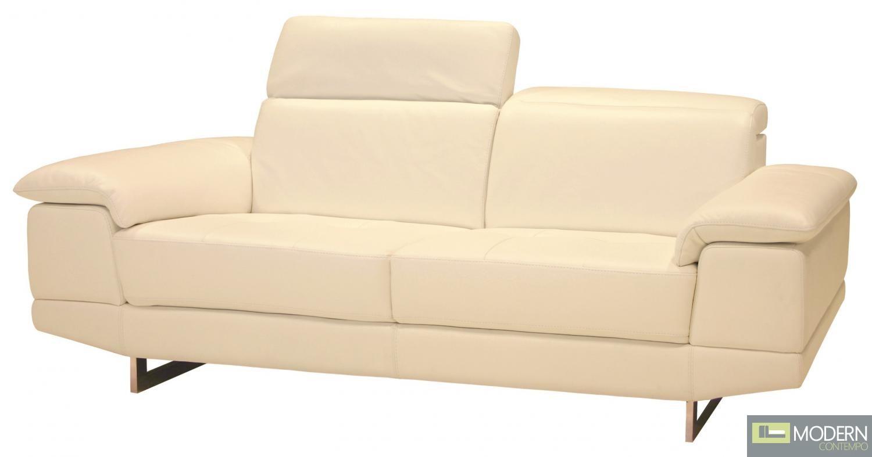 2071 Italian Leather Sofa in Pebble