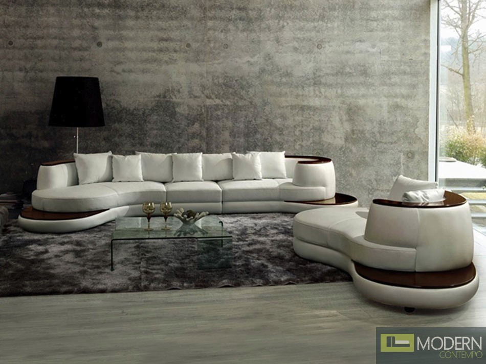 Modern Leather Sectional Sofa  MCNV210