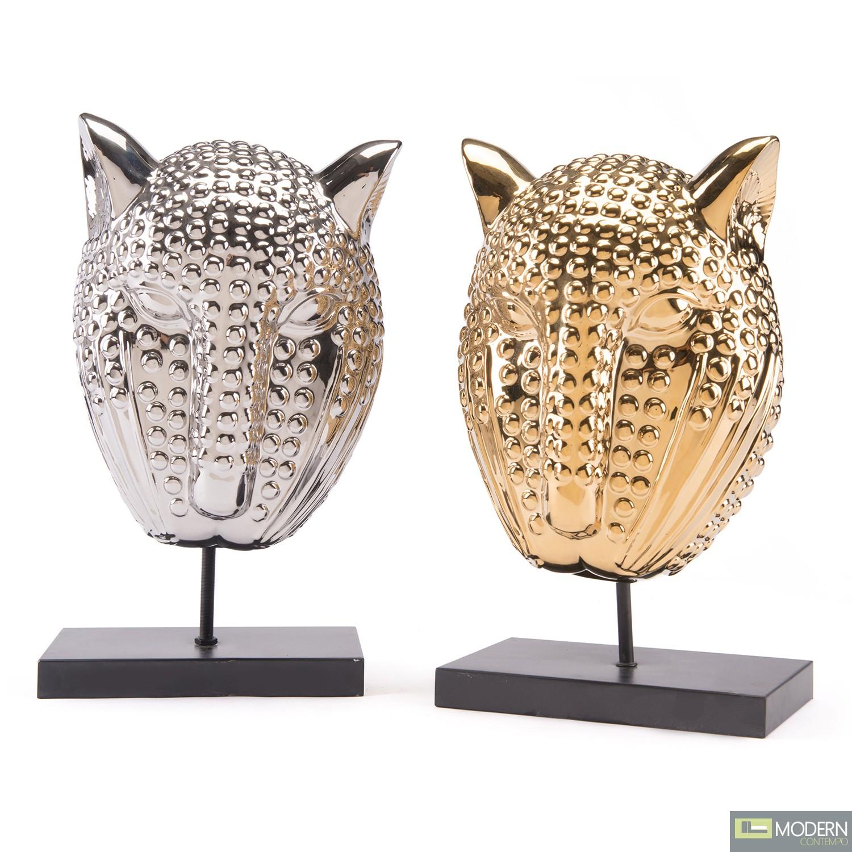 Tiger Mask Decor Sculpture