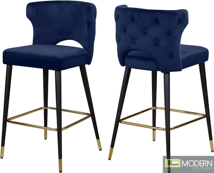 Giuseppe Velvet Bar Stools - Set of 2
