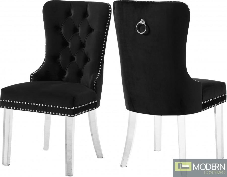 Milania Velvet Dining chairs - Set of 2