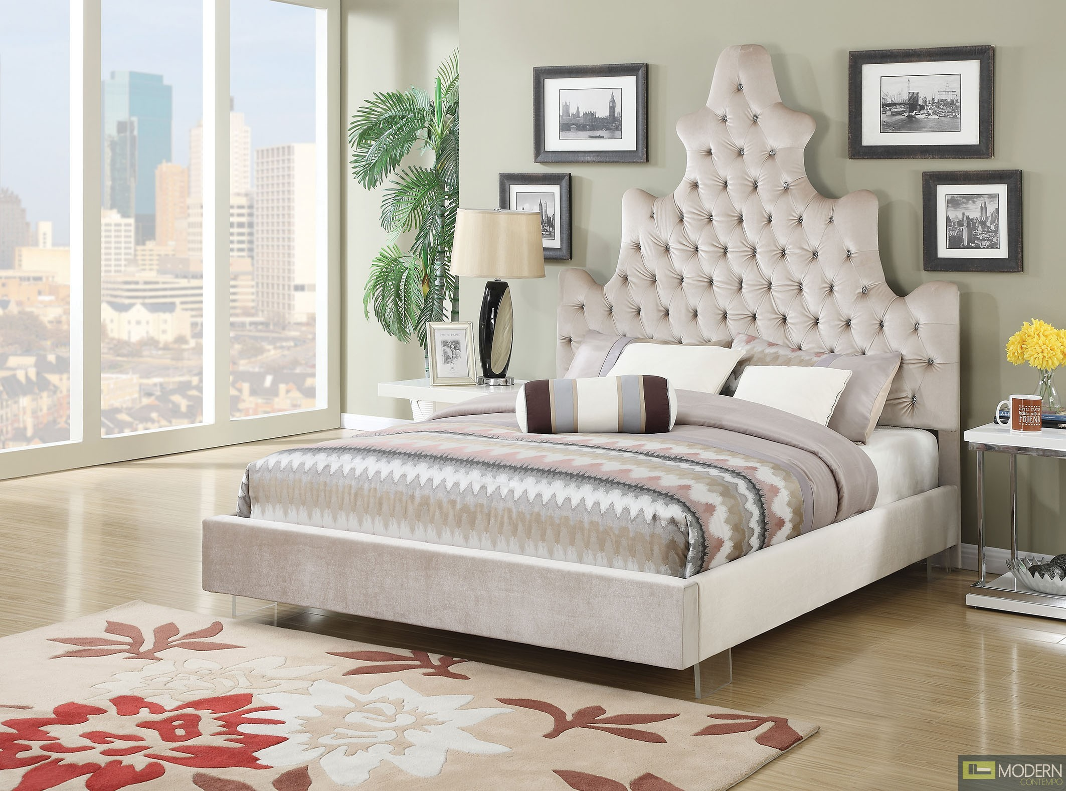 Haziza Upholstery Panel Bed