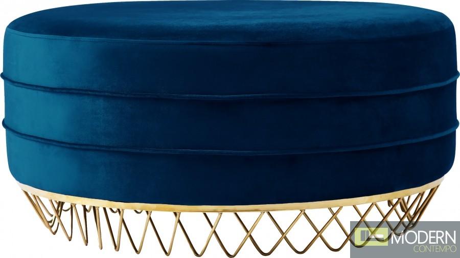 Alice Velvet Ottoman | Coffee Table