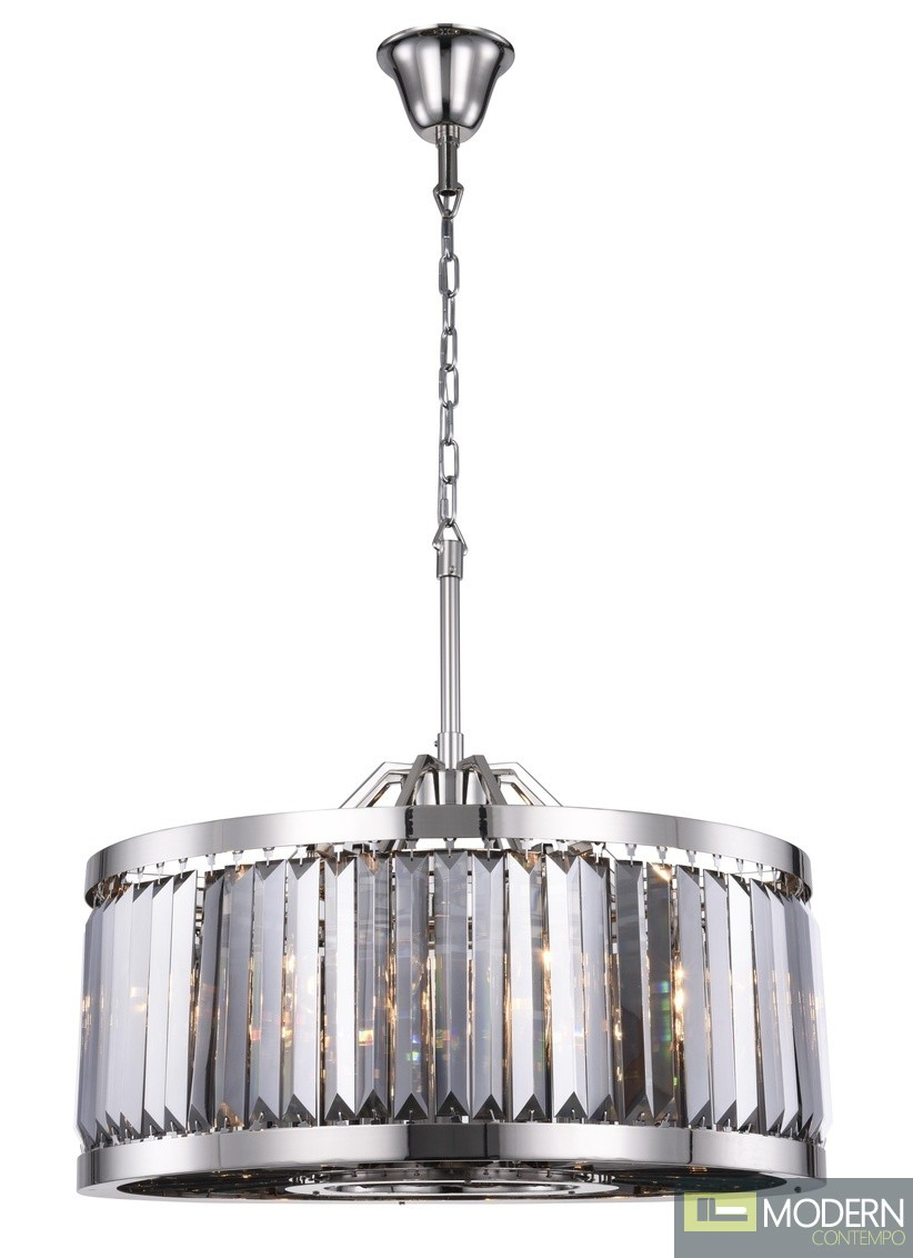 "28"" Greenwich 8 Light Crystal Chandelier"