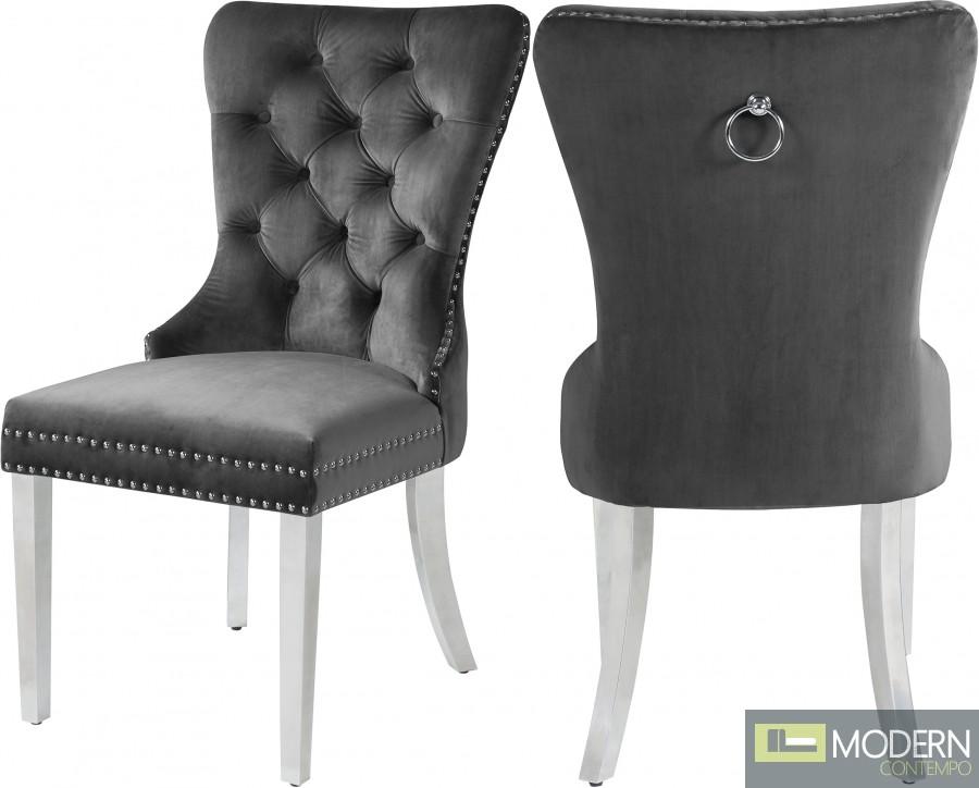 Andrea Velvet Dining Chair - Set of 2